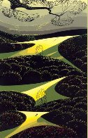 Three Little Fields 1991 Limited Edition Print by Eyvind Earle - 0