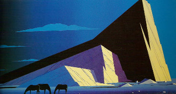 3 Horses 1987 Limited Edition Print - Eyvind Earle