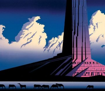 Purple Monument 1986 Limited Edition Print by Eyvind Earle