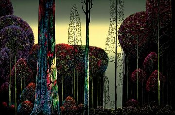 Gothic Forest Ap  1980 Limited Edition Print - Eyvind Earle