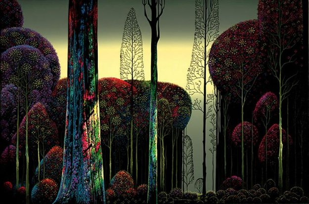 Gothic Forest Ap  1980 Limited Edition Print by Eyvind Earle