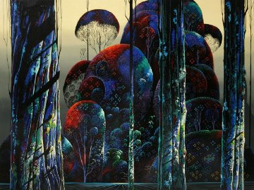 Trees Draped in Autumn AP 1990 Limited Edition Print by Eyvind Earle