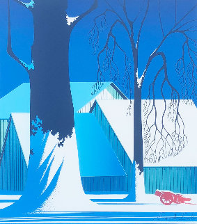 Turquoise 1983  Limited Edition Print by Eyvind Earle