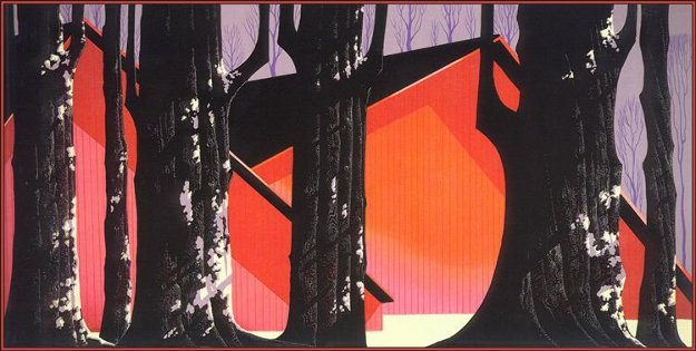 Winter Barnyard 1991 Limited Edition Print by Eyvind Earle