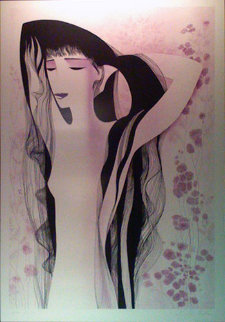 Girl With Raven Hair 1981 Limited Edition Print by Eyvind Earle