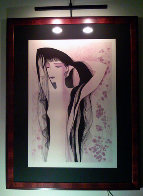 Girl With Raven Hair 1981 Limited Edition Print by Eyvind Earle - 1