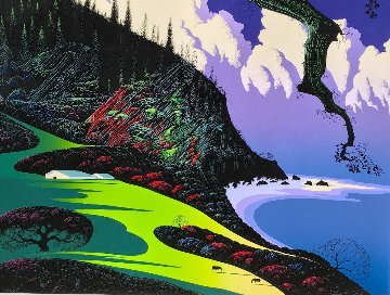 Barns By the Sea 1989 Limited Edition Print by Eyvind Earle