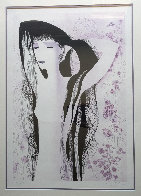 Girl With Raven Hair 1981 Limited Edition Print by Eyvind Earle - 2