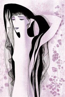 Girl With Raven Hair 1981 Limited Edition Print - Eyvind Earle