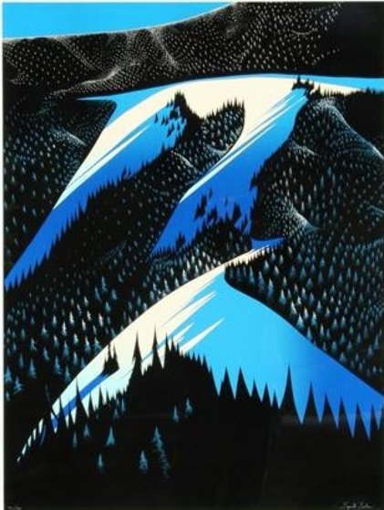Black Evergreen Forest 1981 Limited Edition Print by Eyvind Earle