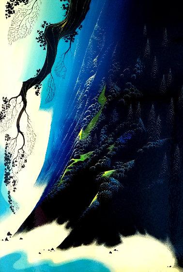 Azure Blue 1991 31x21 by Eyvind Earle