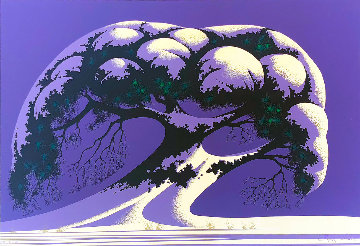 Snow Tree 1995 Limited Edition Print - Eyvind Earle