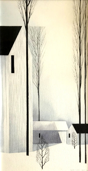 Untitled Watercolor 1968 17x28 Watercolor by Eyvind Earle