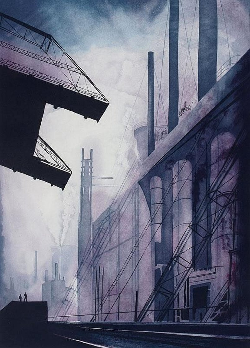 Factory 1986 Limited Edition Print by Eyvind Earle