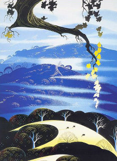 Yellow Leaves 1998 Limited Edition Print - Eyvind Earle