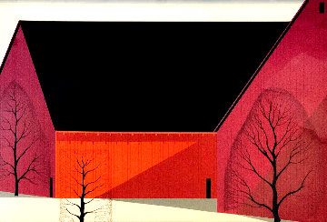 Western Barn 1989 Limited Edition Print - Eyvind Earle