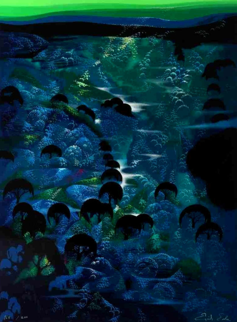 Beneath the Emerald Sky PP Limited Edition Print by Eyvind Earle