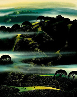 Fog Draped Hills 1994 Limited Edition Print - Eyvind Earle