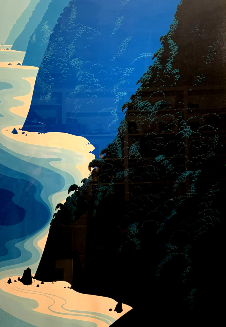 Blue Big Sur Coast Limited Edition Print by Eyvind Earle