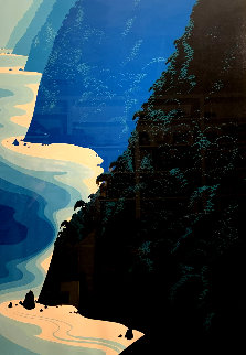 Blue Big Sur Coast Limited Edition Print - Eyvind Earle