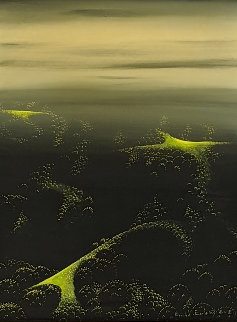 From Where I Stood 1997 21x18 Original Painting - Eyvind Earle