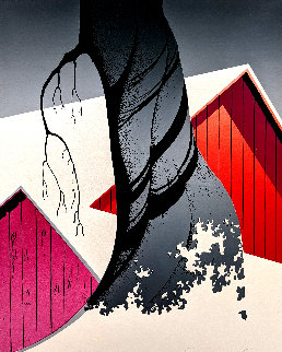 Red Barn and Grey Sky 1975 Limited Edition Print - Eyvind Earle