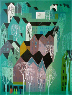 Village 1992 Limited Edition Print - Eyvind Earle