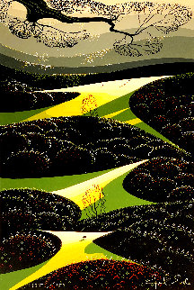 Three Little Fields Limited Edition Print - Eyvind Earle