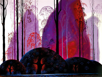 Mauve, Red and Purple 1987 Limited Edition Print - Eyvind Earle