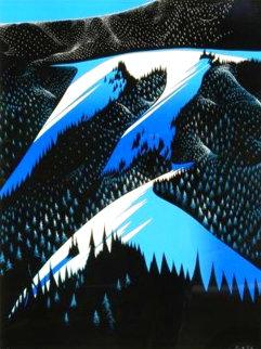 Black Evergreen Forest 1981 Limited Edition Print - Eyvind Earle