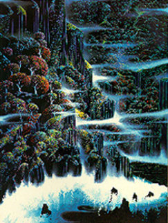 Ocean Cliffs 1991 Limited Edition Print by Eyvind Earle