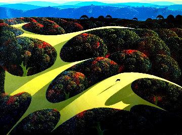 Carmel Valley Oaks 1991  35x45 Huge Original Painting - Eyvind Earle