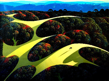Carmel Valley Oaks 1991  35x45 Super Huge Original Painting - Eyvind Earle