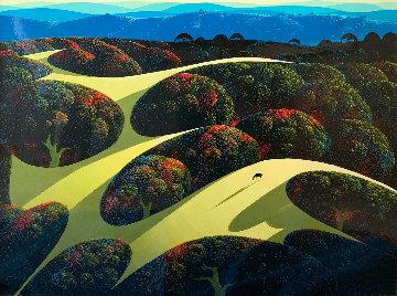 Carmel Valley Oaks 1991  30x40 Original Painting - Eyvind Earle
