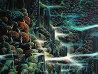 Ocean Cliffs 1991 40x30 Huge  Original Painting by Eyvind Earle - 2