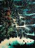 Ocean Cliffs 1991 40x30 Huge  Original Painting by Eyvind Earle - 0