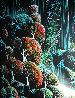 Ocean Cliffs 1991 40x30 Huge  Original Painting by Eyvind Earle - 3
