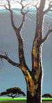 Trees Around Were Tall 1969 34x19 Original Painting - Eyvind Earle