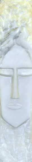 Face Marble Sculpture 21 in Sculpture by Eyvind Earle