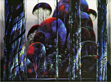 Trees Draped in Autumn 1990 Limited Edition Print - Eyvind Earle
