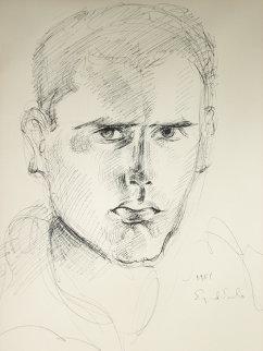 Self-Portrait Drawing  1951 Drawing by Eyvind Earle