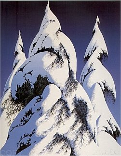 Snow Trees PP 1986 Limited Edition Print by Eyvind Earle