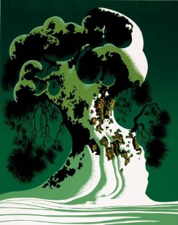 Snow Covered Bonsai 1995 Limited Edition Print - Eyvind Earle