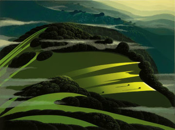 Beyond the Valley 1986 Limited Edition Print by Eyvind Earle