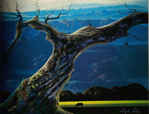Towering Oak 1987 Limited Edition Print by Eyvind Earle