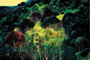 Autumn Fields 1990 AP Limited Edition Print by Eyvind Earle