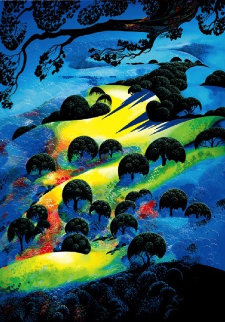 Fading Sunset Flame AP 1995 Limited Edition Print by Eyvind Earle