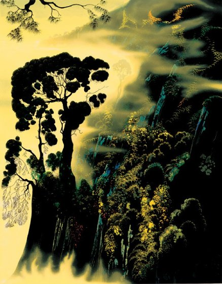 Sunset Silhouette 1999 Limited Edition Print by Eyvind Earle