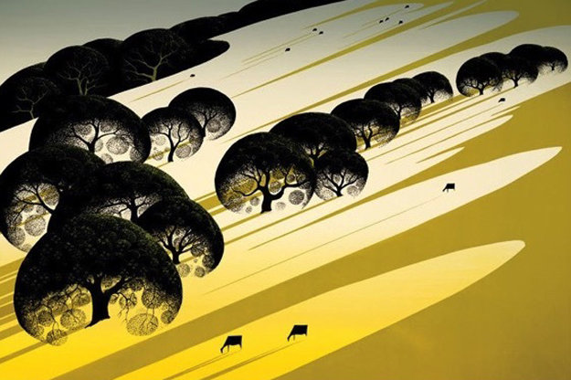 Cattle Country 1983 Limited Edition Print by Eyvind Earle