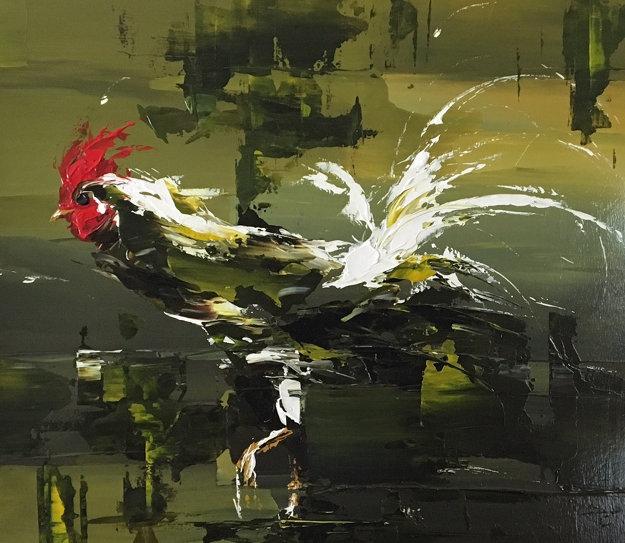 Pond Walker 2002 34x38 Original Painting by Thomas Easley